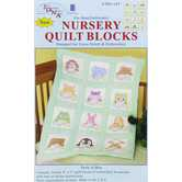 "Peek-A-Boo Nursery Quilt Blocks - 9"" x 9"""